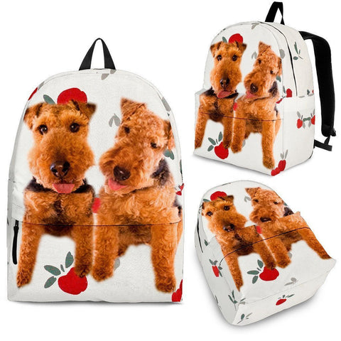 Welsh Terrier Dog Print Backpack-Express Shipping