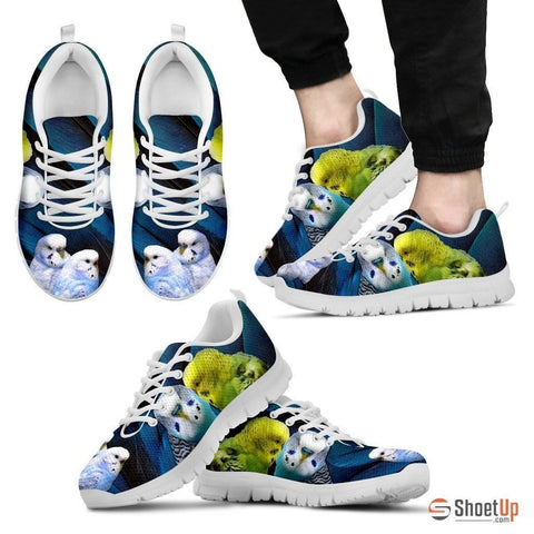 Budgerigars Parrot Print Running Shoe For Men- Free Shipping