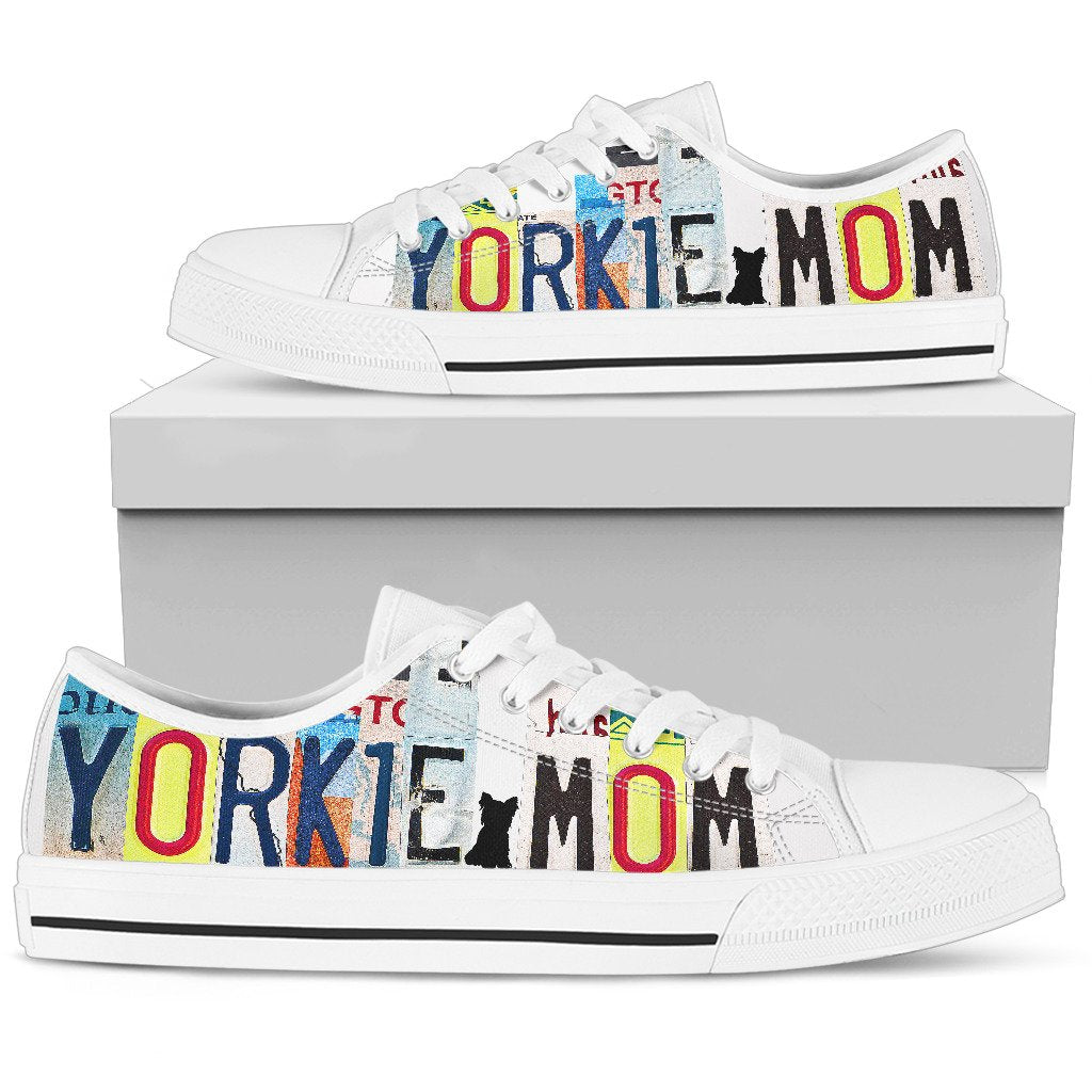 Yorkshire Mom Low Top Canvas Shoes For Women