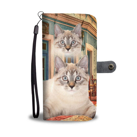Lovely American Bobtail Cat Print Wallet Case-Free Shipping