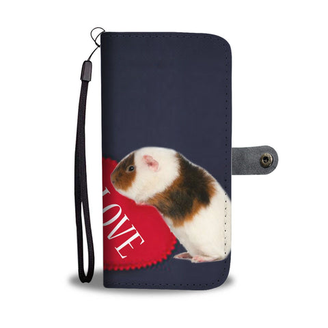 Teddy Guinea Pig Print Wallet Case-Free Shipping