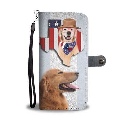 Amazing Golden Retriever Print Wallet Case-Free Shipping-TX State