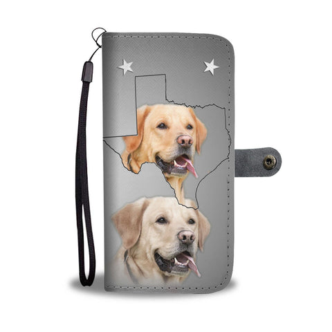 Amazing Labrador Retriever Print Wallet Case- Free Shipping-TX State