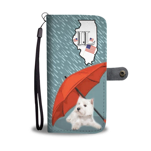 West Highland White Terrier Print Wallet Case-Free Shipping-IL State