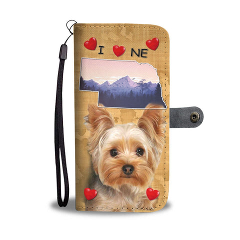 Yorkshire Terrier Print Wallet Case-Free Shipping-NE State