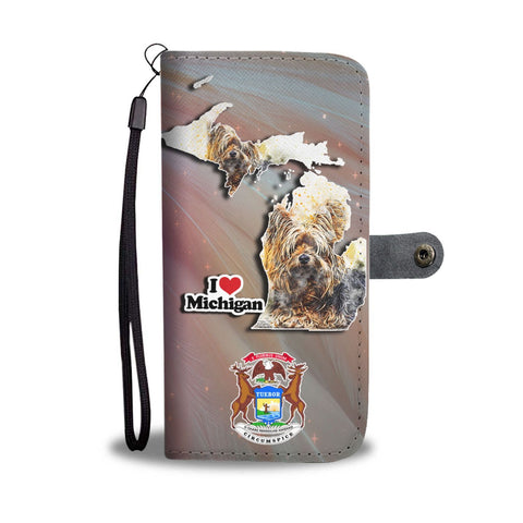 Yorkshire Terrier Art Print Wallet Case-Free Shipping-MI State