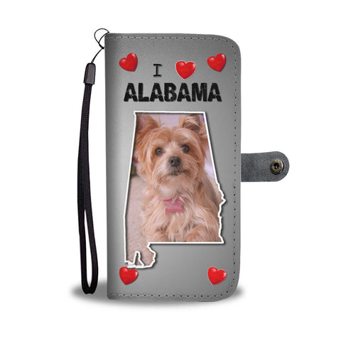 Yorkshire Terrier Print Wallet Case-Free Shipping-AL State
