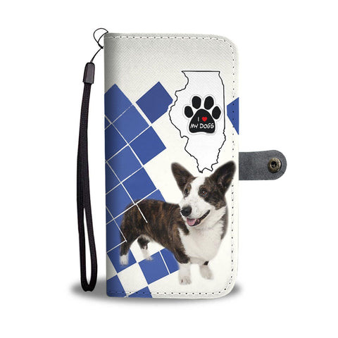 Cardigan Welsh Corgi Print Wallet Case-Free Shipping-IL State