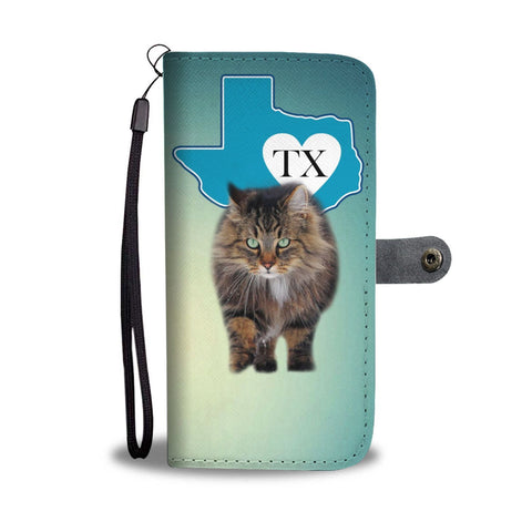 Norwegian Forest Cat Print Wallet Case-Free Shipping-TX State