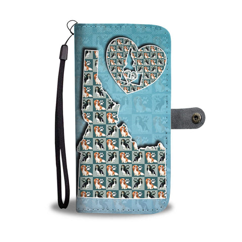 Cavalier King Charles Spaniel Dog Pattern Print Wallet Case-Free Shipping-ID State
