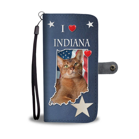 Cute Abyssinian Cat Print Wallet Case-Free Shipping-IN State