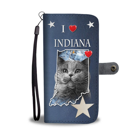 British Shorthair Cat Print Wallet Case-Free Shipping-IN State