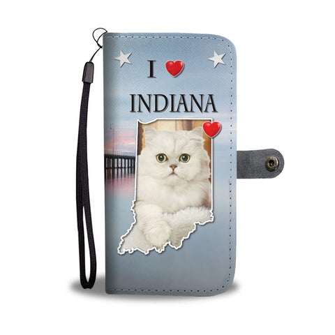 Cute Persian Cat Print Wallet Case-Free Shipping-IN State