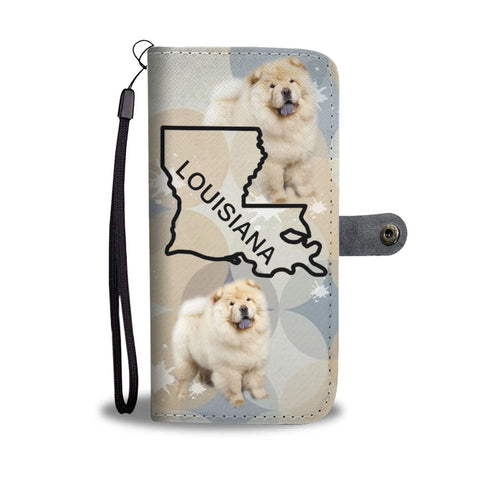 Chow Chow Dog Print Wallet Case-Free Shipping-LA State