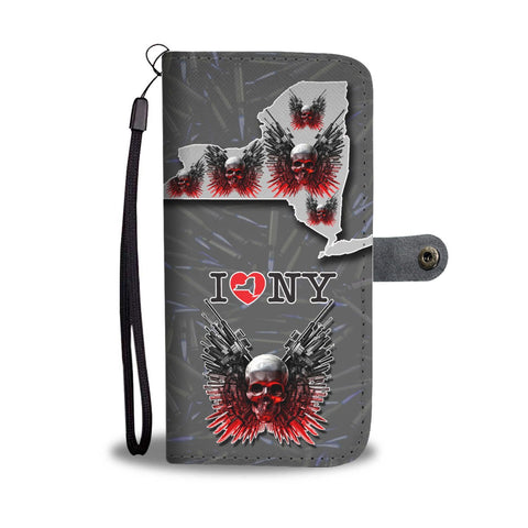 Guns And Skull Print Wallet Case-Free Shipping-NY State