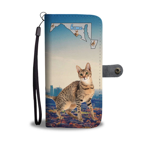 Savannah cat Print Wallet Case-Free Shipping-MD State
