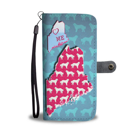 Great Pyrenees Dog Pattern Print Wallet Case-Free Shipping-ME State
