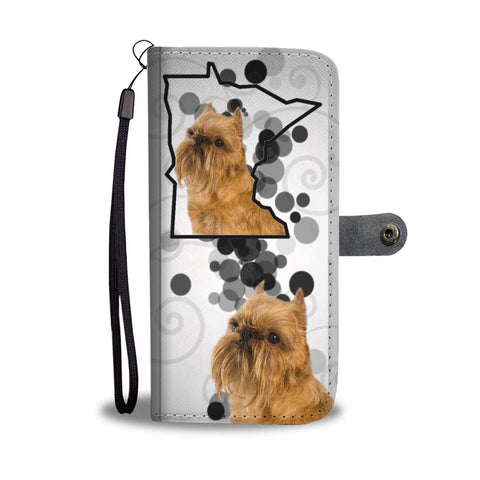 Brussels Griffon Print Wallet Case-Free Shipping-MN State