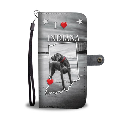 Weimaraner Dog Print Wallet Case-Free Shipping-IN State