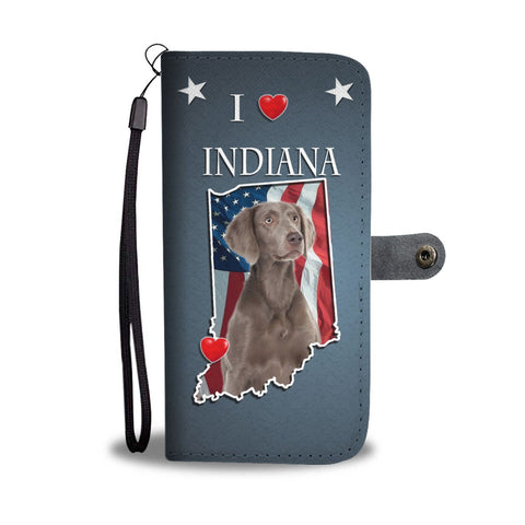 Lovely Weimaraner Print Wallet Case-Free Shipping-IN State