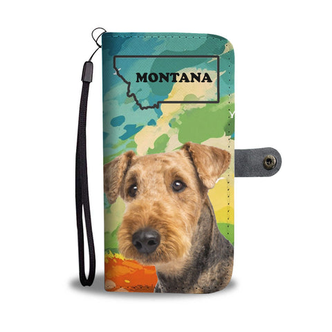 Airedale Terrier Print Wallet Case-Free Shipping-MT State