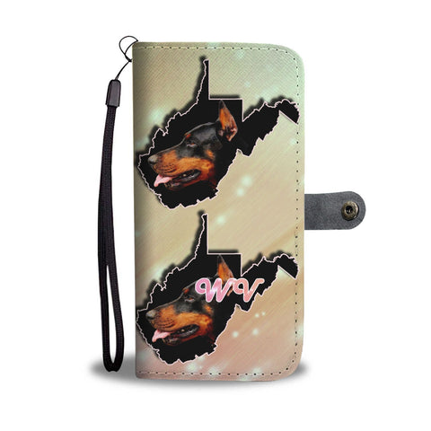 Amazing Doberman Pinscher Dog Print Wallet Case-Free Shipping-WV State