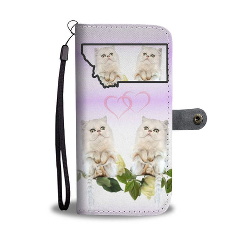 Persian Cat Print Wallet Case-Free Shipping-MT State