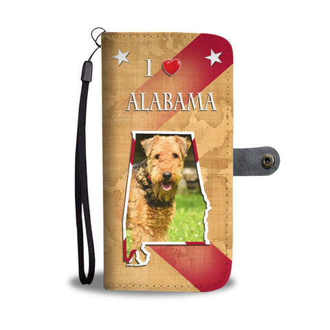 Airedale Terrier Print Wallet Case-Free Shipping-AL State