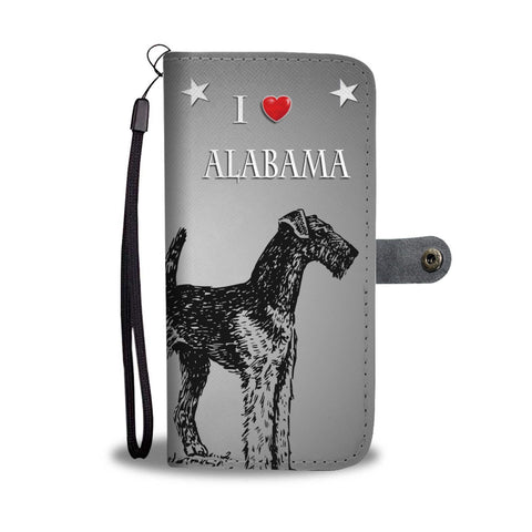 Airedale Terrier Sketch Print Wallet Case-Free Shipping-AL State