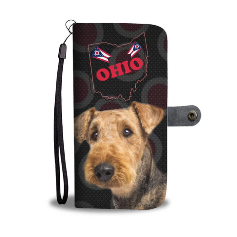 Airedale Terrier Print Wallet Case-Free Shipping-OH State
