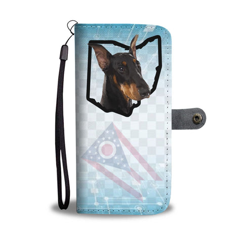 Doberman Pinscher Print Wallet Case-Free Shipping-OH State