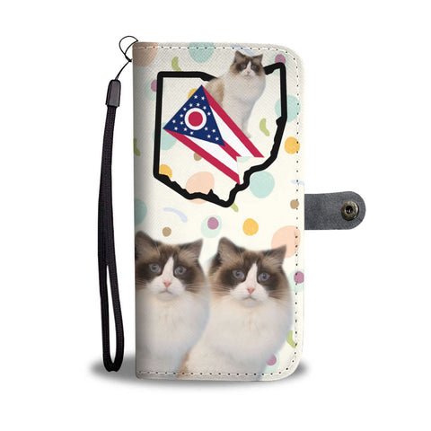 Ragdoll Cat Print Wallet Case-Free Shipping-OH State