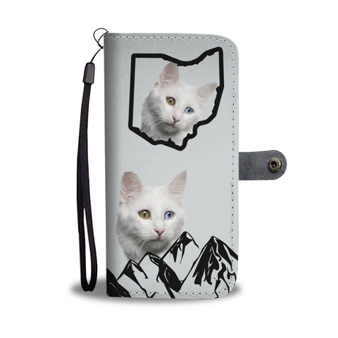 Turkish Angora Cat Print Wallet Case-Free Shipping-OH State
