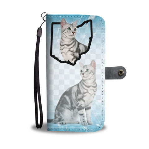 American Shorthair Cat Print Wallet Case-Free Shipping-OH State