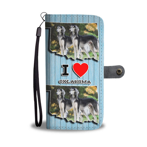 Amazing Saluki Dog Print Wallet Case-Free Shipping-OK State