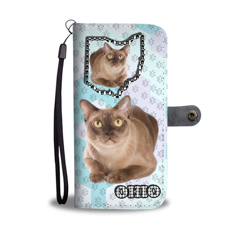 Burmese cat Print Wallet Case-Free Shipping-OH State