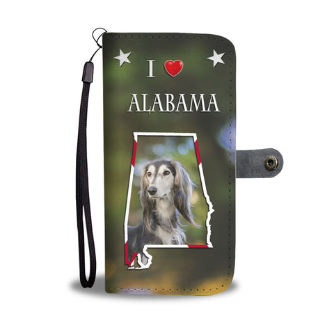 Saluki Dog Print Wallet Case-Free Shipping-AL State
