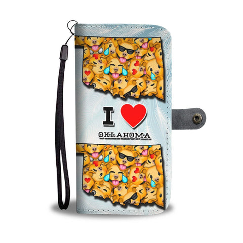 Pit Bull Dog Smileys Print Wallet Case-Free Shipping-OK State