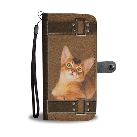 Abyssinian Cat Print Wallet Case-Free Shipping-CO State