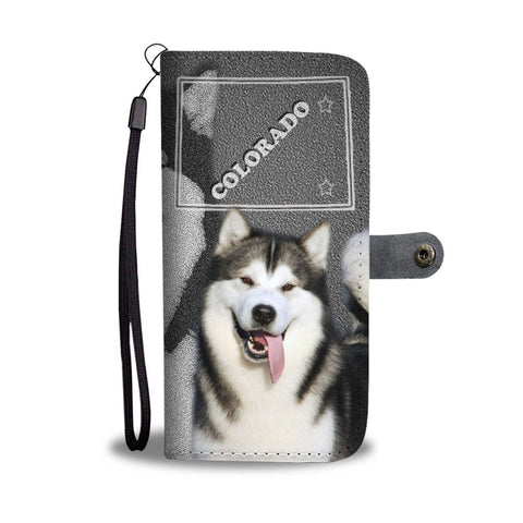 Alaskan Malamute Dog Print Wallet Case-Free Shipping-CO State