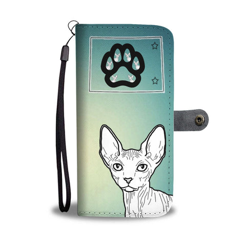 Sphynx Cat Print Wallet Case-Free Shipping-CO State