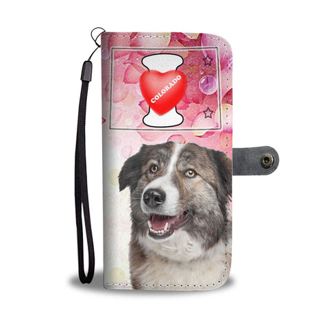 Aidi Dog Print Wallet Case-Free Shipping-CO State