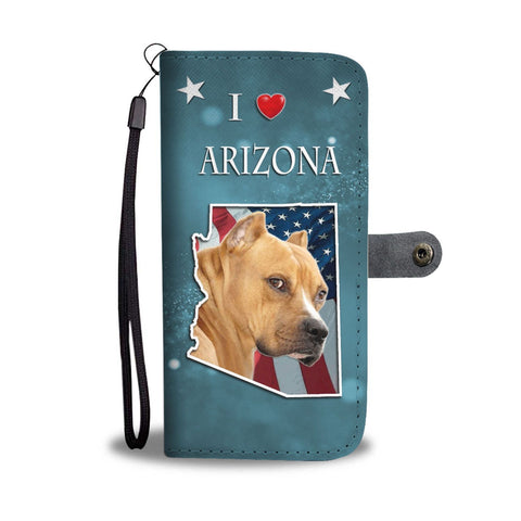 Staffordshire Terrier Print Wallet Case-Free Shipping-AZ State
