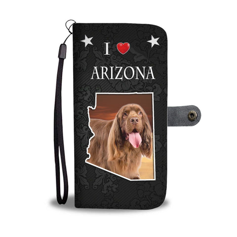 Sussex Spaniel Print Wallet Case-Free Shipping-AZ State