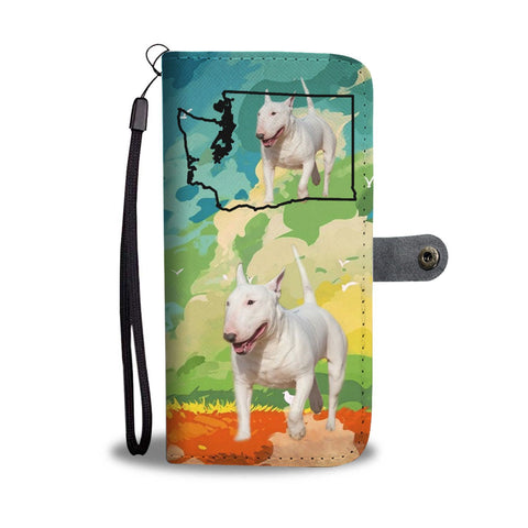 Bull Terrier Print Wallet Case-Free Shipping-WA State