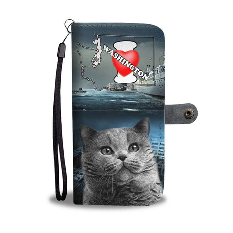 British Shorthair Cat Print Wallet Case-Free Shipping-WA State