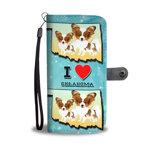 Cute Papillon Dog Art Print Wallet Case-Free Shipping-OK State