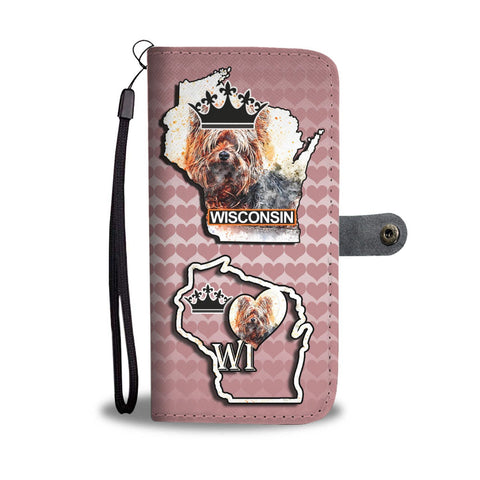 Yorkie Dog Art Print Wallet Case-Free Shipping-WI State