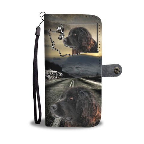 Newfoundland Dog Print Wallet Case-Free Shipping-WA State