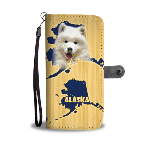 Cute Samoyed Dog Print Wallet Case-Free Shipping-AK State